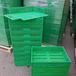 Lăzi pliabile de plastic pt uz agroindustrial